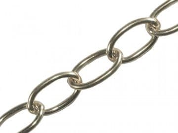 Oval Chain 2.3mm x 10m Chrome
